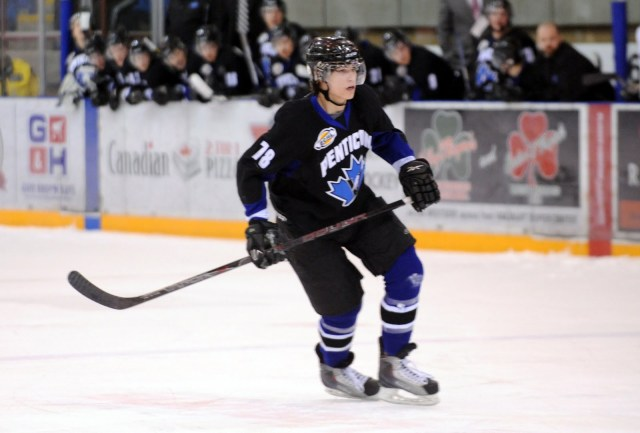 Bennett seen here playing for the Vees in 2009-10