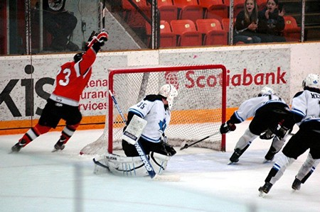 McMullen's game-winner. Photo: Ray Emery