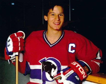 Kariya, as a 17 year-old captained the Vees in 91-92