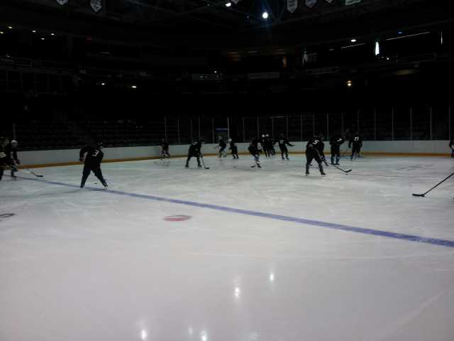 Team Black, coached by yours truly, warming up for GM 1