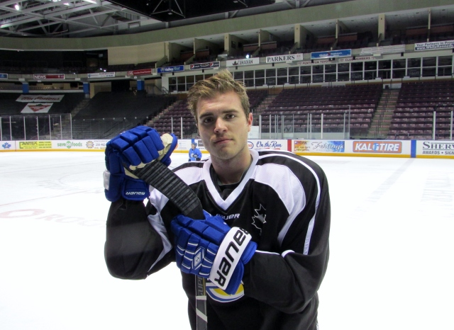 Clint after his first Vees practice Monday