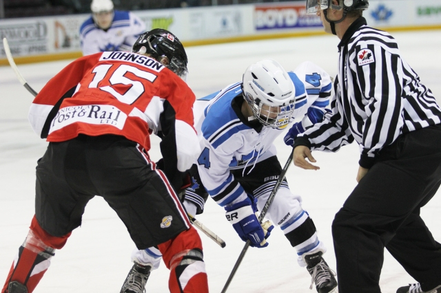 Liam Finlay seen here in a game with the Vees in October
