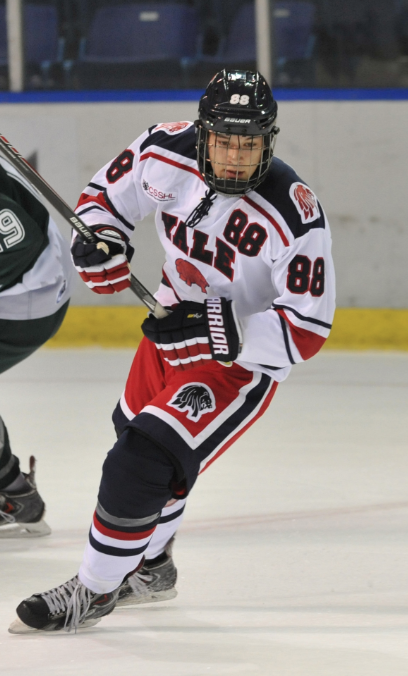 Tak Anholt playing with the Yale Hockey Academy / Photo: CSSHL