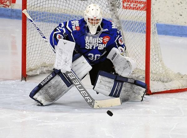 Driscoll playing High School hockey in Minnesota