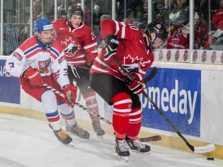 Cobourg - Dec 13, 2015 - Game #1 - Team Canada West vs Czech Republic in the Gold medal game at the 2015 World Junior A Challenge at the Cobourg Community Centre in Cobourg, ON. (Photo: Dennis Pajot/Hockey Canada Images)